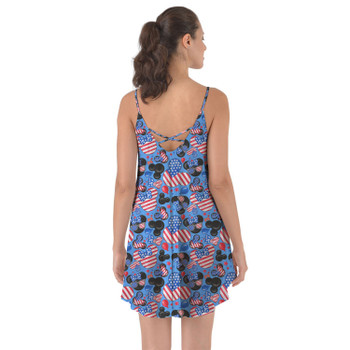 Beach Cover Up Dress - Mickey's Fourth of July