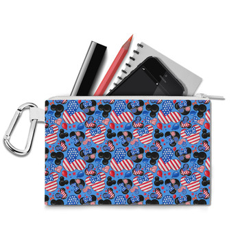 Canvas Zip Pouch - Mickey's Fourth of July