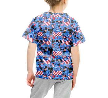 Youth Cotton Blend T-Shirt - Mickey's Fourth of July