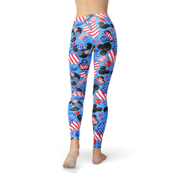 Winter Leggings - Mickey's Fourth of July