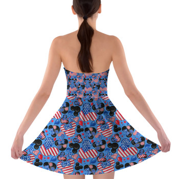 Sweetheart Strapless Skater Dress - Mickey's Fourth of July