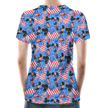 Women's Cotton Blend T-Shirt - Mickey's Fourth of July