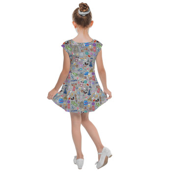 Girls Cap Sleeve Pleated Dress - The Epcot Experience