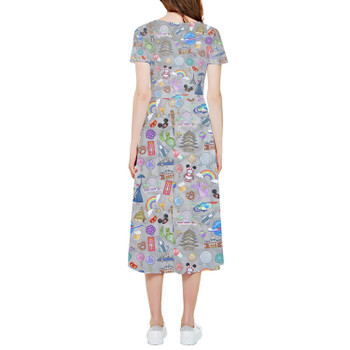 High Low Midi Dress - The Epcot Experience