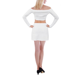 Off Shoulder Top with Assymetric Mini Skirt Set