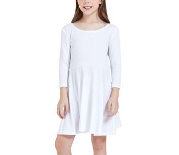 Girls' Quarter Sleeve Skater Dress
