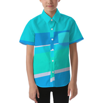 Kids' Button Down Short Sleeve Shirt - The Toothpaste Wall
