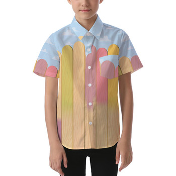 Kids' Button Down Short Sleeve Shirt - The Popsicle Stick Wall