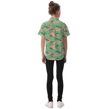 Kids' Button Down Short Sleeve Shirt - The Camouflaged Child