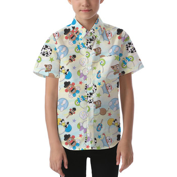 Kids' Button Down Short Sleeve Shirt - Toy Story Style