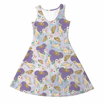 Girls Sleeveless Dress - 14 - Minnie Floral Princess - READY TO SHIP