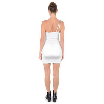 One Shoulder Ring Detail Bodycon Dress