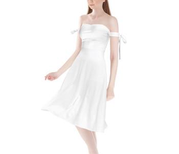 Strapless Bardot Midi Dress