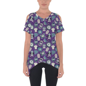 Cold Shoulder Tunic Top - Tomb Sweet Tomb