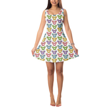 **LIMITED RELEASE** Sleeveless Flared Dress - Satisfactual Sign Co's Delightful Donuts