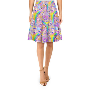 A-Line Skirt - Figment Watercolor Rainbow
