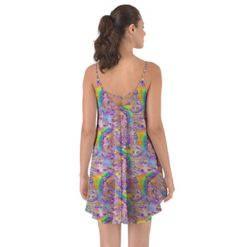 Beach Cover Up Dress - Figment Watercolor Rainbow