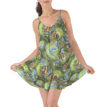 Beach Cover Up Dress - Raya And Her Dragon