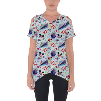 Cold Shoulder Tunic Top - Cruise Disney Style