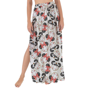 Maxi Sarong Skirt - Gone Overboard In White