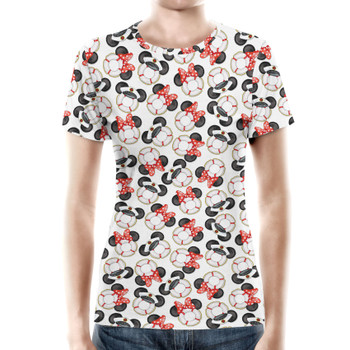 Women's Cotton Blend T-Shirt - Gone Overboard In White