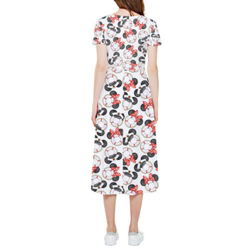 High Low Midi Dress - Gone Overboard In White