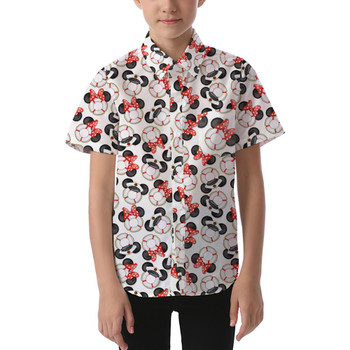Kids' Button Down Short Sleeve Shirt - Gone Overboard In White