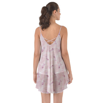 Beach Cover Up Dress - Watercolor Piglet