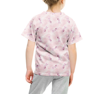 Youth Cotton Blend T-Shirt - Watercolor Piglet