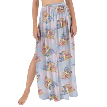 Maxi Sarong Skirt - Watercolor Best Pooh Friends
