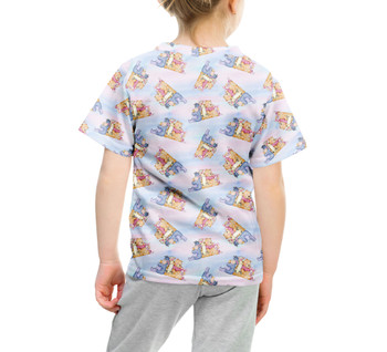 Youth Cotton Blend T-Shirt - Watercolor Best Pooh Friends