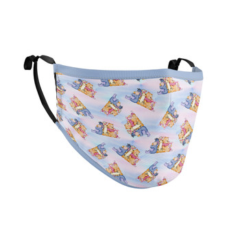 Fitted Face Mask with 50 filters - Watercolor Best Pooh Friends