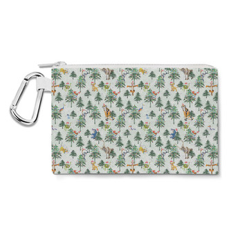 Canvas Zip Pouch - Christmas Disney Forest