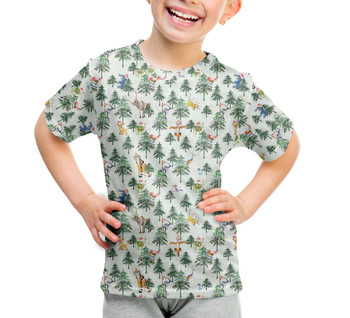 Youth Cotton Blend T-Shirt - Christmas Disney Forest