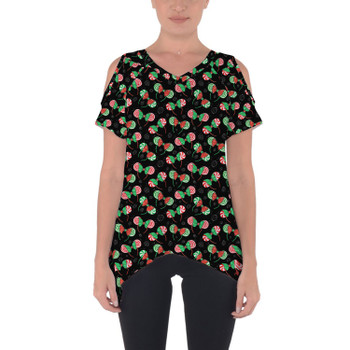 Cold Shoulder Tunic Top - Christmas Minnie Ears