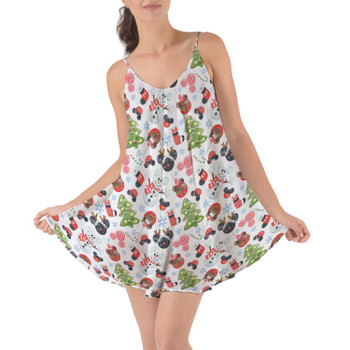 Beach Cover Up Dress - Mouse Magic Christmas
