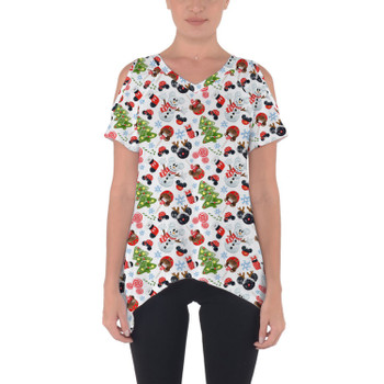 Cold Shoulder Tunic Top - Mouse Magic Christmas