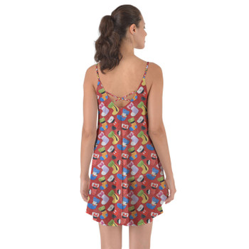 Beach Cover Up Dress - Mickey & Friends Christmas Stockings