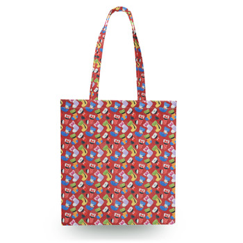 Canvas Tote Bag - Mickey & Friends Christmas Stockings