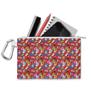 Canvas Zip Pouch - Mickey & Friends Christmas Stockings
