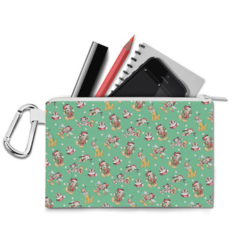 Canvas Zip Pouch - Merry Mickey Christmas