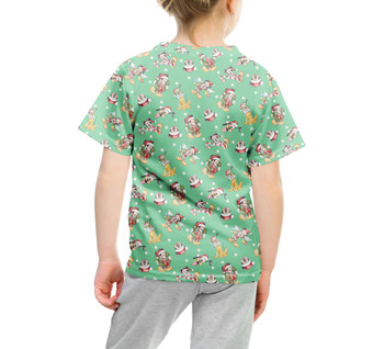Youth Cotton Blend T-Shirt - Merry Mickey Christmas
