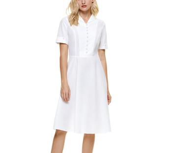 Retro Button Top Knee Length Dress