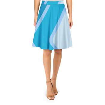 A Line Skirt - Blueberry Wall - L - READY TO SHIP