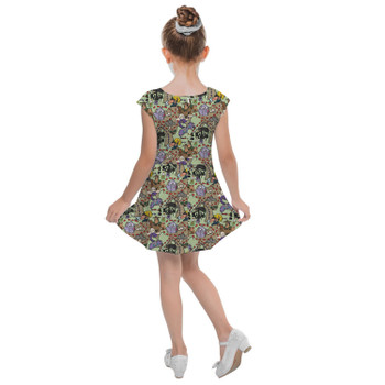 Girls Cap Sleeve Pleated Dress - The Emperor's New Groove Inspired