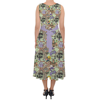 Belted Chiffon Midi Dress - The Emperor's New Groove Inspired