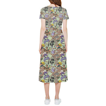 High Low Midi Dress - The Emperor's New Groove Inspired