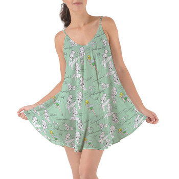 Beach Cover Up Dress - Drawing Tinkerbell