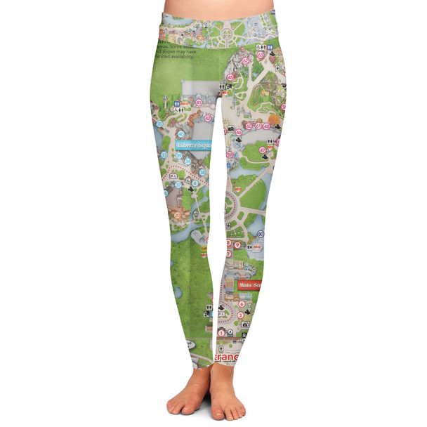 Yoga Leggings - Magic Kingdom Map