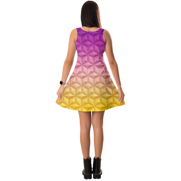 Sleeveless Flared Dress - Epcot Spaceship Earth